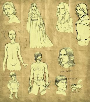 yet another ASoIaF sketch mess by Pojypojy