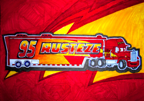 Cars 3: RUST-EZE Mack poster: Muro version by sgtjack2016