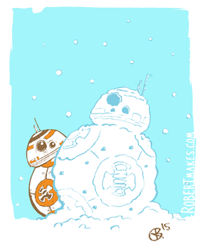 Snow BB-8 by RobertMakes