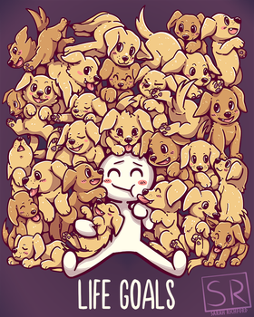 Life Goals - Golden Labrador Retriever dogs by SarahRichford