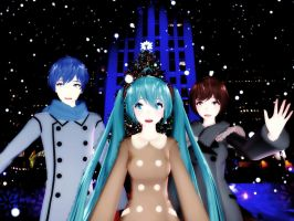 Merry Christmas from KaiMei Family at Rockefeller! by ConceptScion