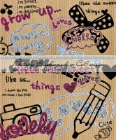 Cool Texts Photoshop Brushes by Coby17