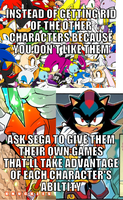 Give them their own games by TrueSonicSpirit