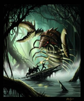Swamp creature by PReilly