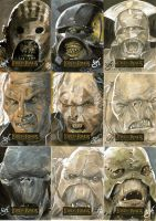 LotR Masterpieces cards by gph-artist