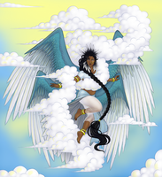 Jaiya, Goddess of the Wind and Skies by haodan