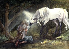 Molly Grue And The Unicorn by Mellaril
