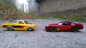 77 Pontiac Firebird  72 Custom Chevy Luv by MannuelAlegria