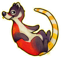 Coati grin by pandapoots