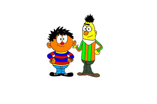 Ernie and bert in the loud house universe by mcdnalds2016