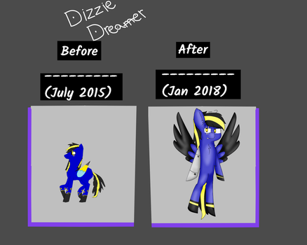 Before and after art meme by Bright-lightz