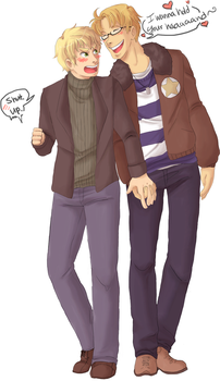 APH - wanna hold your hand by Gandalfia