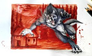 Commission: Fallenwolf by SteelC