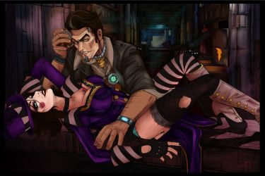 Handsome Jack and Moxxi by Eulerami