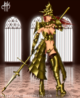 Lioness of Anor Londo (Ornstein Genderbend) by Mikael-Art