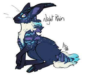 Clawed Jackalope: Night Rain by CloverCoin