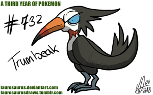 A third year of pokemon: #732 Trumbeak