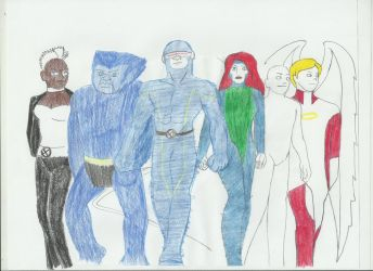 X-men team one by Shellquake