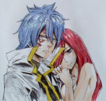 Fairy Tail:Jerza moment fanart by Kururi-Tai