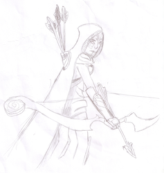 Drow Ranger Sketch by blackealge642