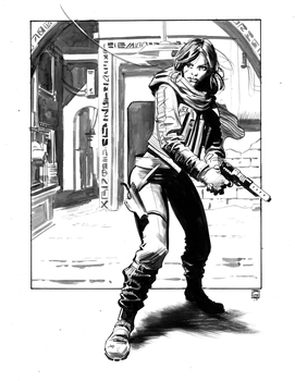 Jyn Erso by Stephen-Green