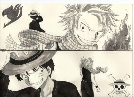 Salamander vs. Straw Hat by marikots
