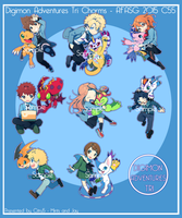 [Preorders Open!] Digimon Tri Charms!- 3 days left by jaywalkings
