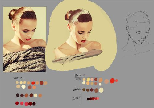 08052015 - portrait, painting, and color study by DeltaFiveZeroFive
