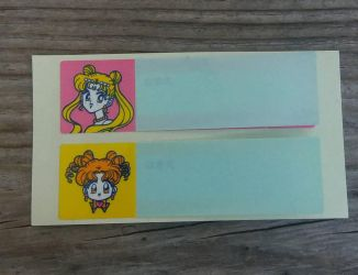 Vintage Nakayosi Sailor Moon labels by avaneshop