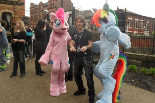 Rainbow Dash and Pinkie Pie at Manchester Furmeet by Plasticdolly11