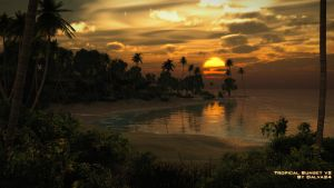 Tropical Sunset v2 by Dalva24