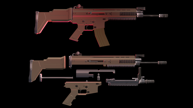 Rifle Disassembled/Assembled by Stewartoons