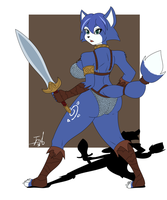 Patreon Request: barbarian esque Krystal by QuakeBrothers