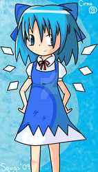 Cirno from Touhou by Squiggles-8D