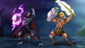 He-man vs Skeletor Anime Style by JazylH