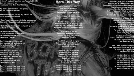 Born This Way Lyrics Wall by TriforceZZ