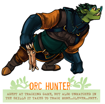 Day 49 - Orc Hunter by flatw00ds