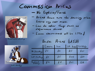 Commission prices July 2018 (Commissions are open! by SuperFrodo95