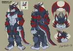 Ragnus Lif - Reference Sheet by yuski
