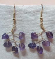 Amethysy Vine Drop Earrings by the-twisted-vine