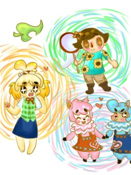 acnl doodles by kittykathats