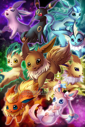 Eeveelutions by Mireielle