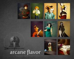 Arcane Flavor: Wall by digital-marginalia