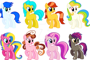 MLP:FiM Pony adoptables CLOSED by Nutty-Nutzis