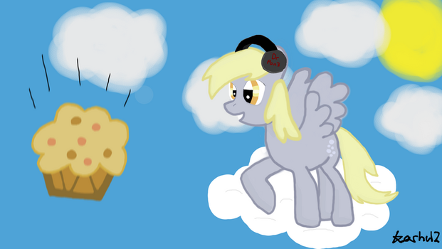 Derpy and muffin by karhu12