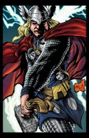 Thor God of Thunder colored by hanzozuken