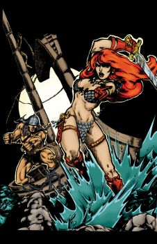 Red Sonja and Conan by Luzproco