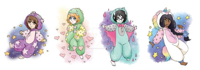 Rainy Day Dreams: Kigurumi Chibis by RainyDayMariah