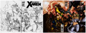 Colored: Uncanny X-men Cover ops By Werder by poizonazn