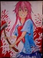 2014 Drawing - Yuno Gasai :) by nielopena